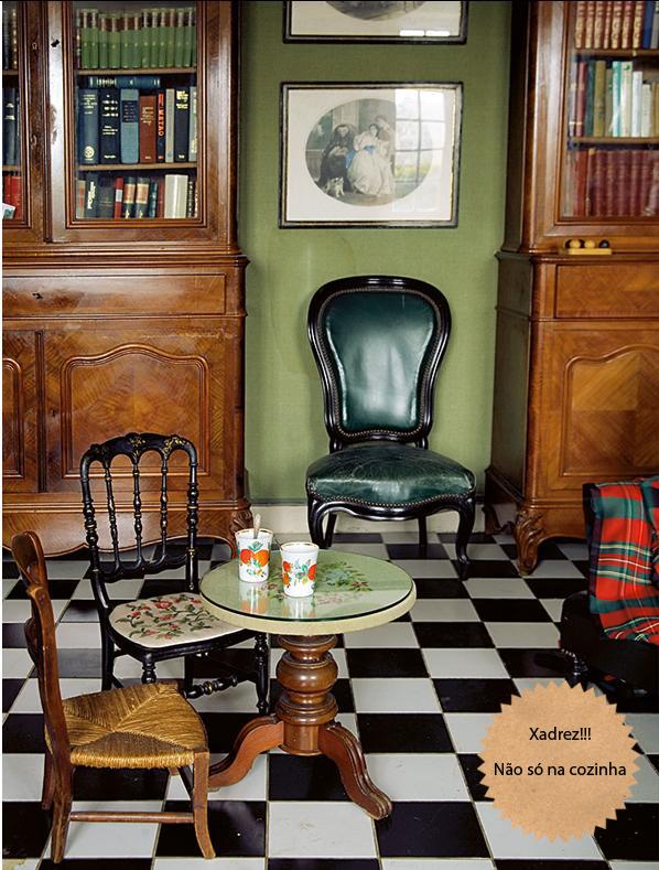 Sala De Estar Com Piso Xadrez ~ piso xadrez copy  A Casa que a minha Vó queriaA Casa que a minha Vó
