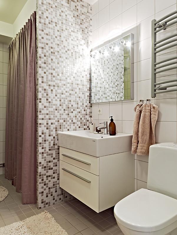 Todo lindo e cheio de graça  A casa que a minha vó queria -> Banheiro Rosa Simples