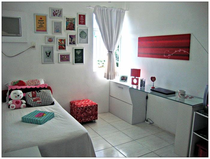 A transformação do quarto da Marina A Casa que a minha  ~ Como Decorar Quarto De Casal Pequeno Gastando Pouco