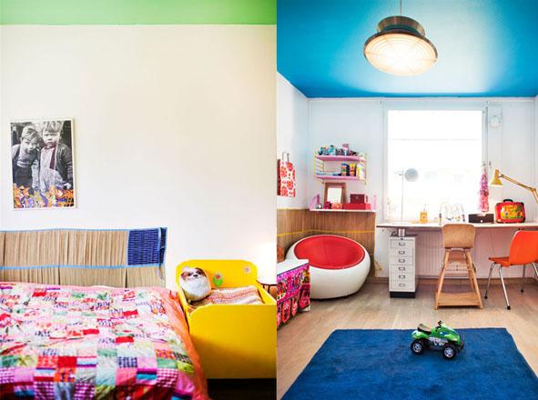 decoracao de sala pequena barataNão enjoamos das cores e amamos