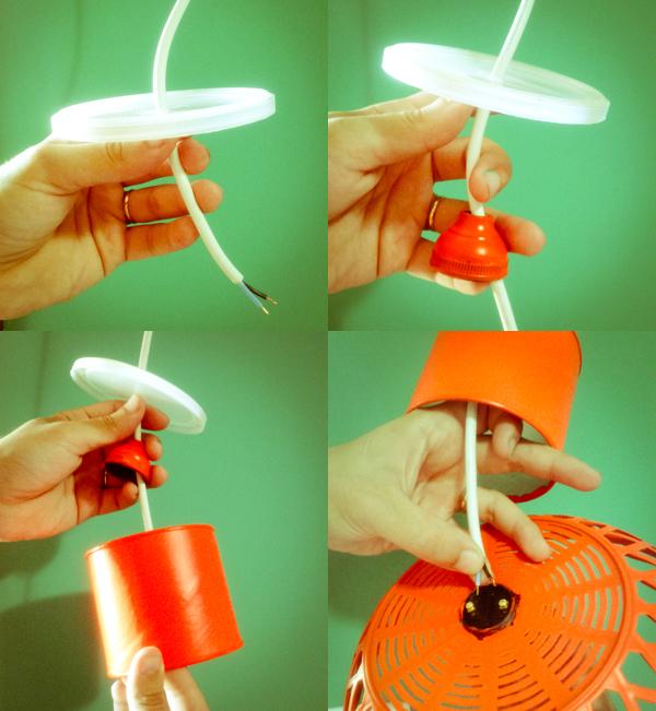 luminária do quarto com materiais reaproveitados ~ Como Fazer Uma Luminaria Para Quarto
