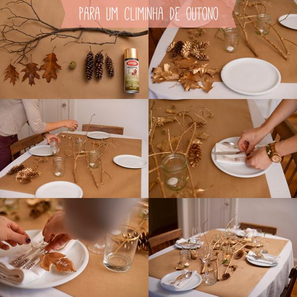 Enfeite De Outono ~ Kit Mesa Bonita e 3 opções de decoraç u00e3o (simples de doer) para uma ocasi u00e3o especial A casa