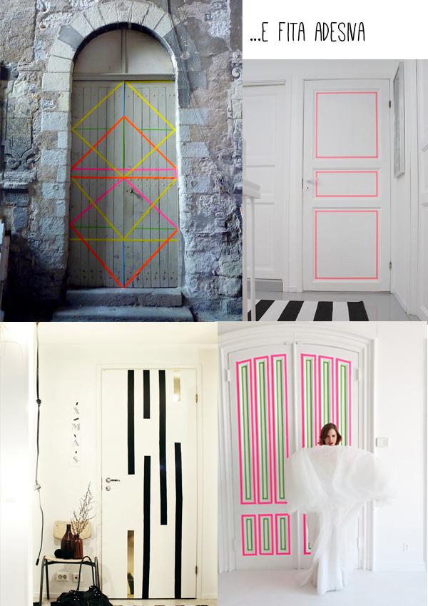 porta e fitas adesivas