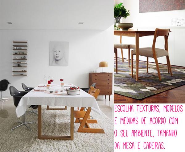 Sala De Jantar Com Tapete De Couro ~ de tapetes não só para serem usados na sua sala de jantar, mas em