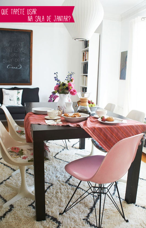 E Essa Combinao Tapete Mesa De Jantar A Casa Que