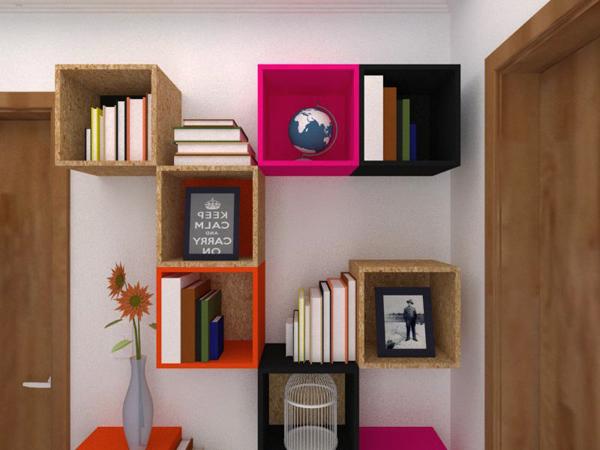 Como Fazer Uma Estante Para O Quarto ~ Um projeto simples de uma estante com nichos (para o nosso corredor