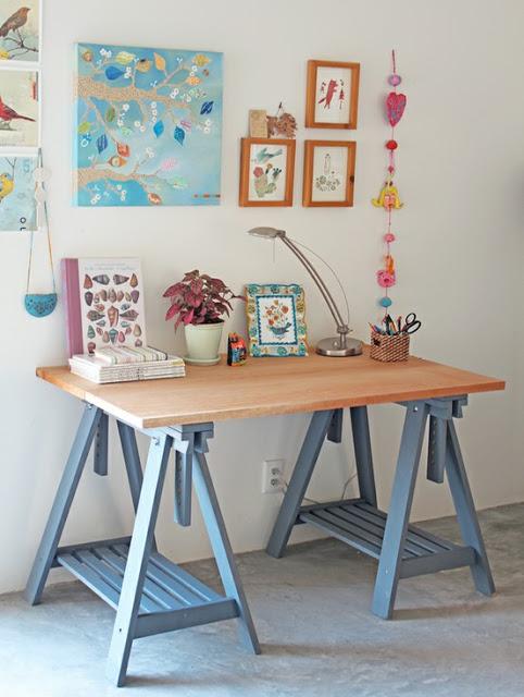 Como ter uma mesa home office linda por apenas r 140 a - Patas para mesas leroy merlin ...