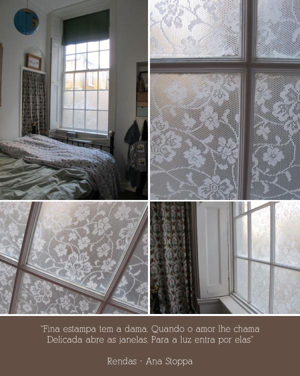 Renda na decoração: Uma janela toda linda - A Casa que a minha Vó ...