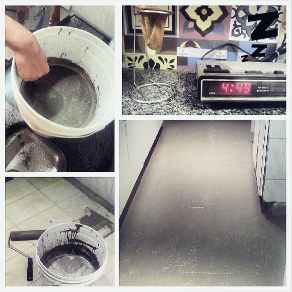 piso e cimento
