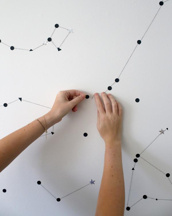 Constela es na parede a casa que a minha v queria - Decorar paredes de gotele ...