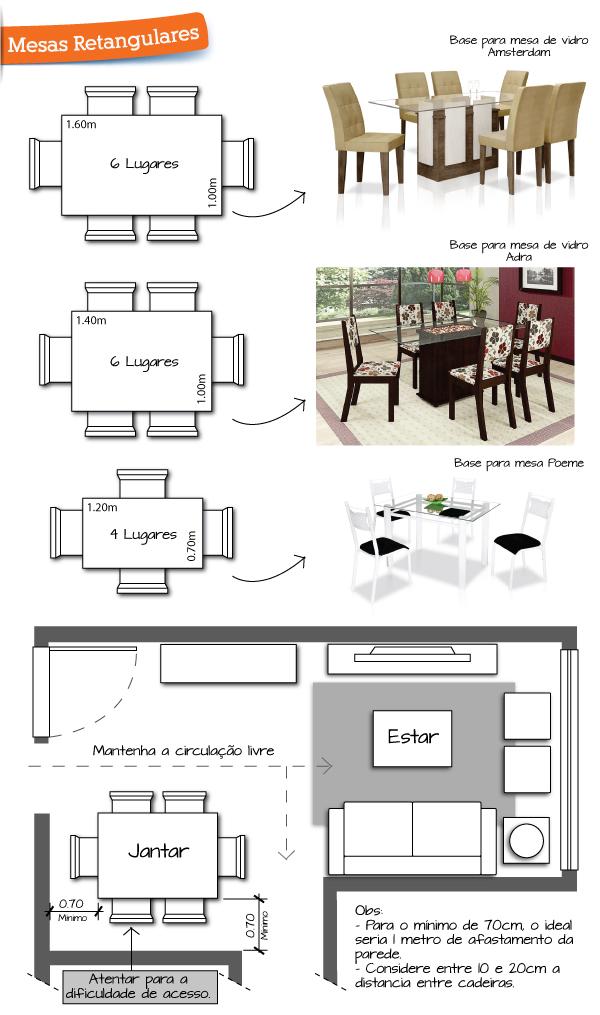 Suficiente Qual o formato de mesa de jantar ideal para a sua casa? - A casa  FM72