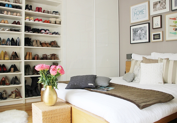 um quarto para as loucas por sapatos a casa que a minha. Black Bedroom Furniture Sets. Home Design Ideas