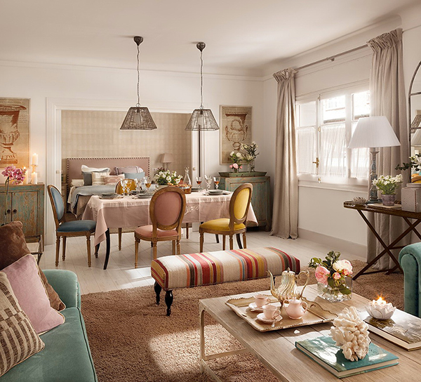 Um ap com decora o rom ntica incr vel de linda a casa for Living estilo romantico