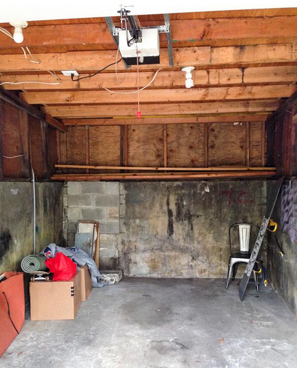 garagem antes
