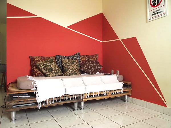 As paredes geom tricas do bruno e da carla a casa que a minha v queria - Simulador de pintura para paredes ...