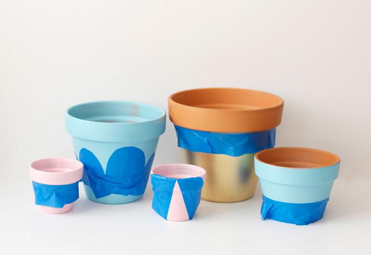 Customizando vasinhos de plantas - A Casa que a minha Vó queriaA Casa