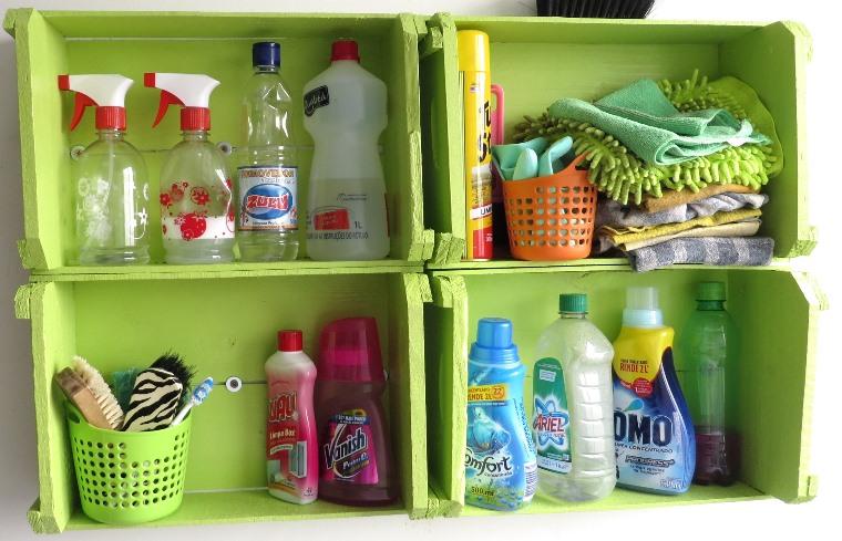 Armario Ikea Pax Blanco ~ Transformando caixotes em um armarinho pra Lavanderia A casa que a minha vó queria