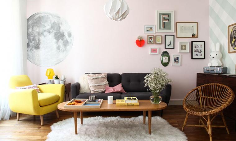 decoracao de sala retro:Uma sala retrô e 5 ótimas ideias pra qualquer estilo