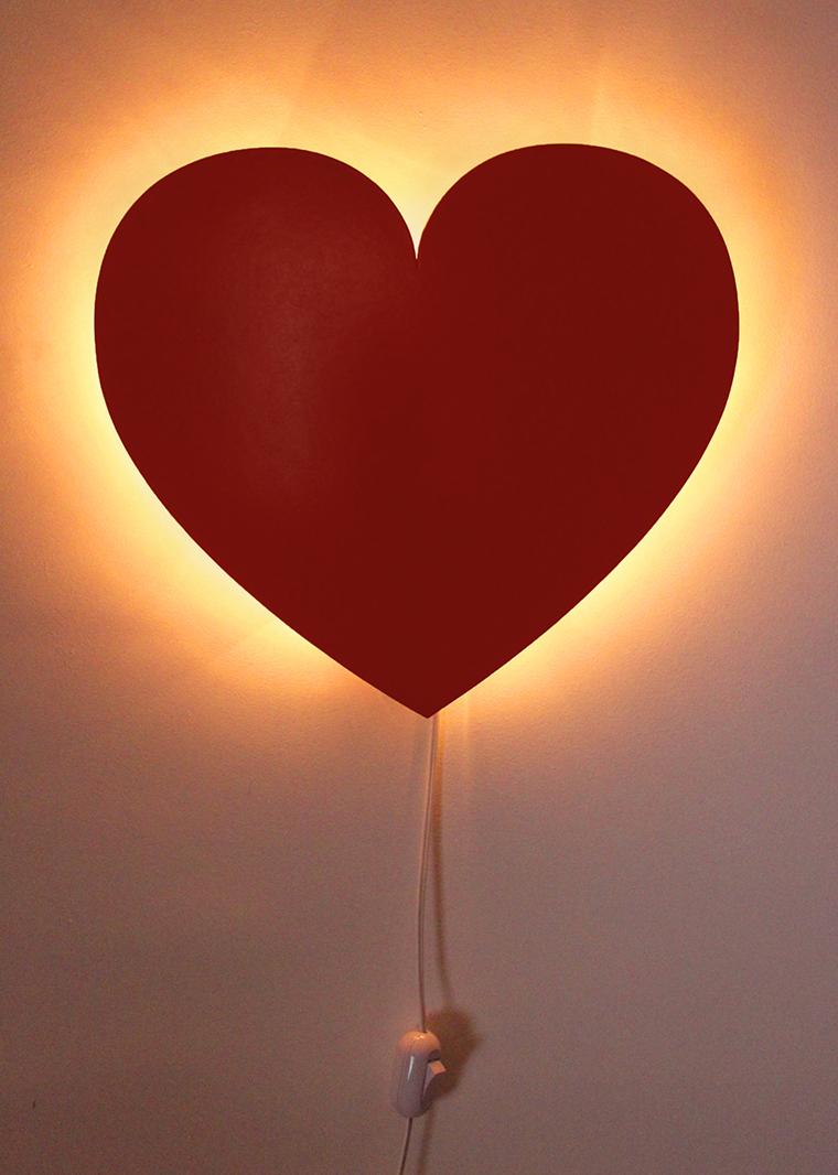 Luminária coração casa de criação2