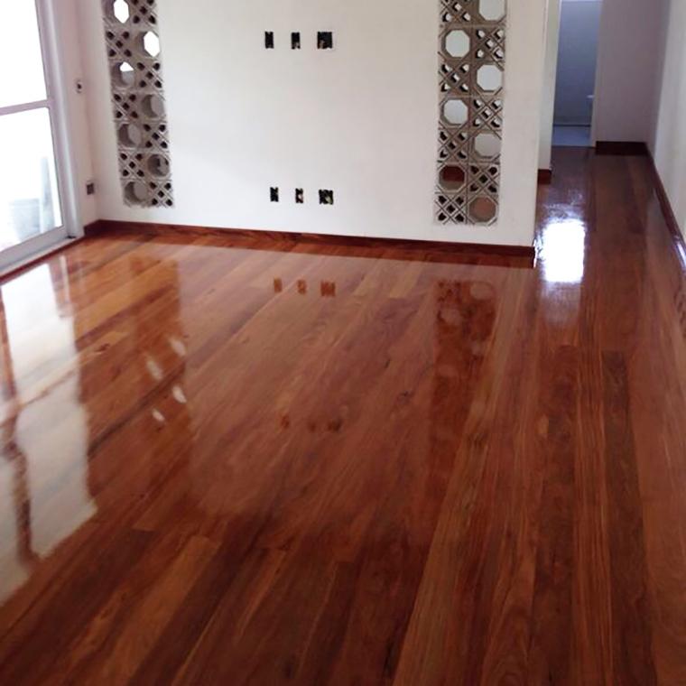 Piso de madeira todas as etapas da instala o a casa - Como blanquear el piso de ceramica ...