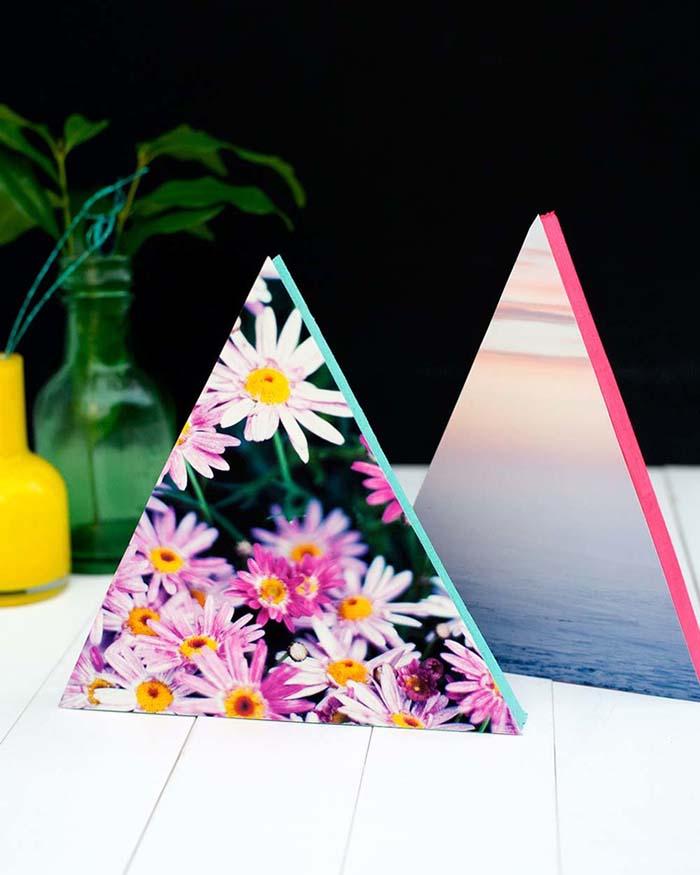 triangulos com fotos