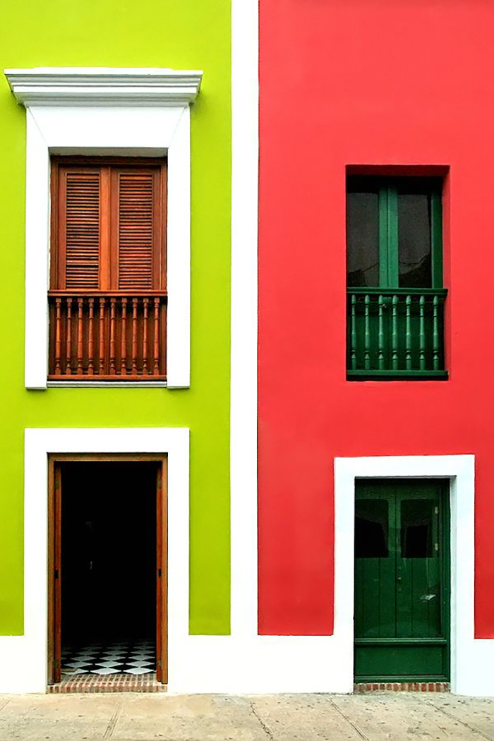 A minha casa e sua fachada colorida for Colores de moda para fachadas