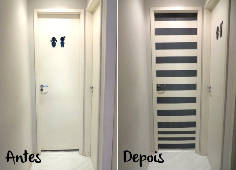 porta pinterest Antes e Depois