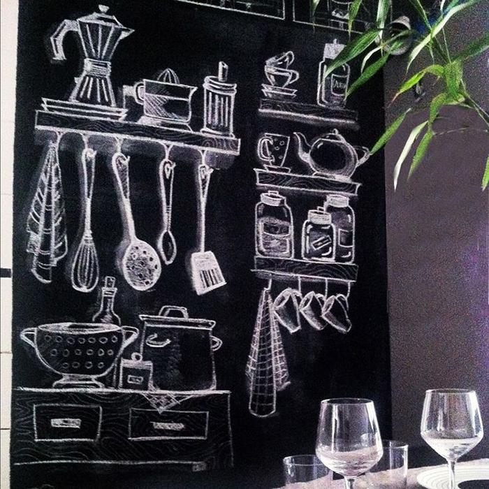 Vantagens e desavantagem da parede lousa a casa que a - Pizarras de cocina ...