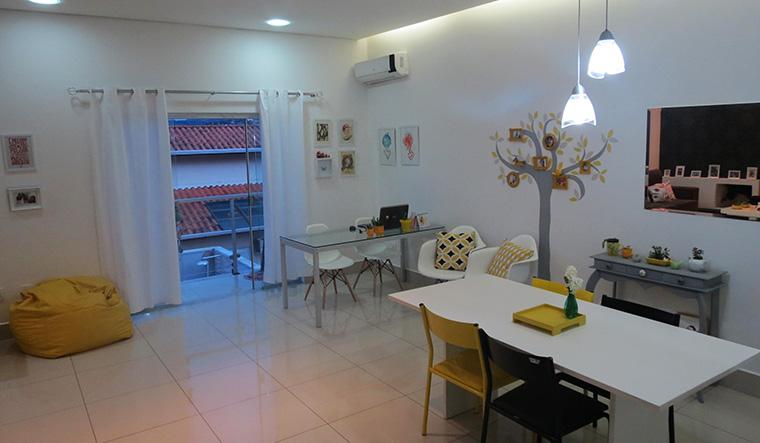 Sala De Estar Com Home Office ~ Sala de estar e home office, tudo junto e misturado  A Casa que a