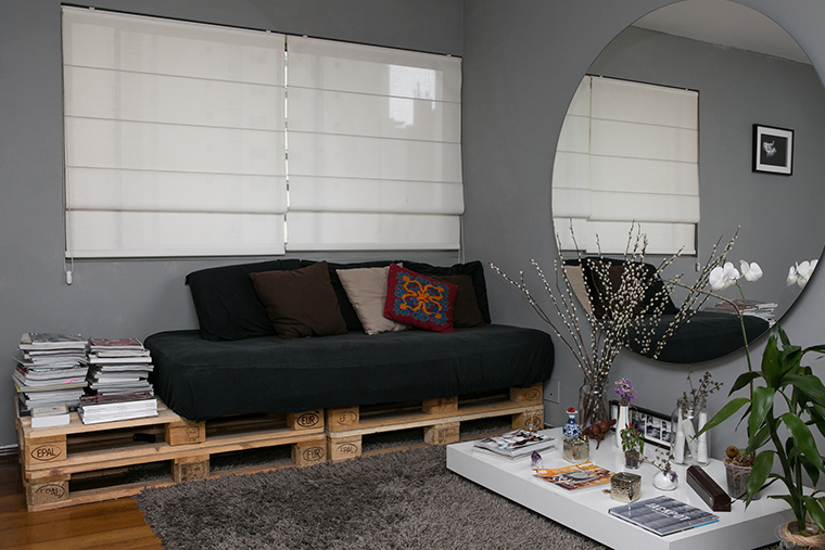 sofá de pallets - a casa que a minha vo queira