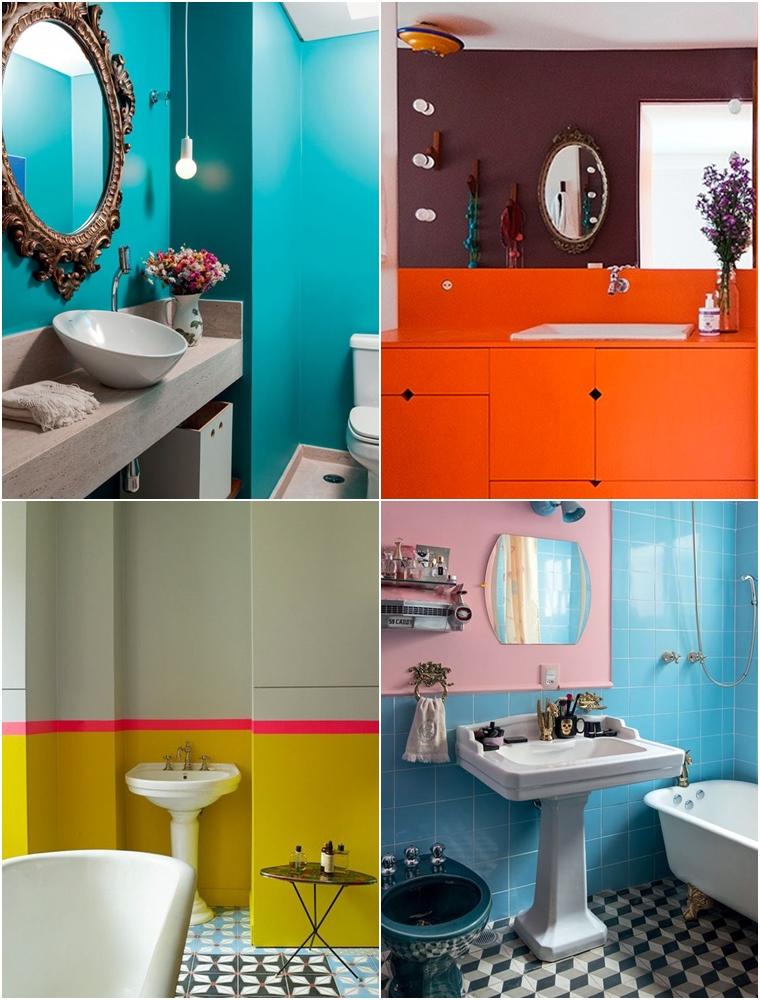 banheiros coloridos