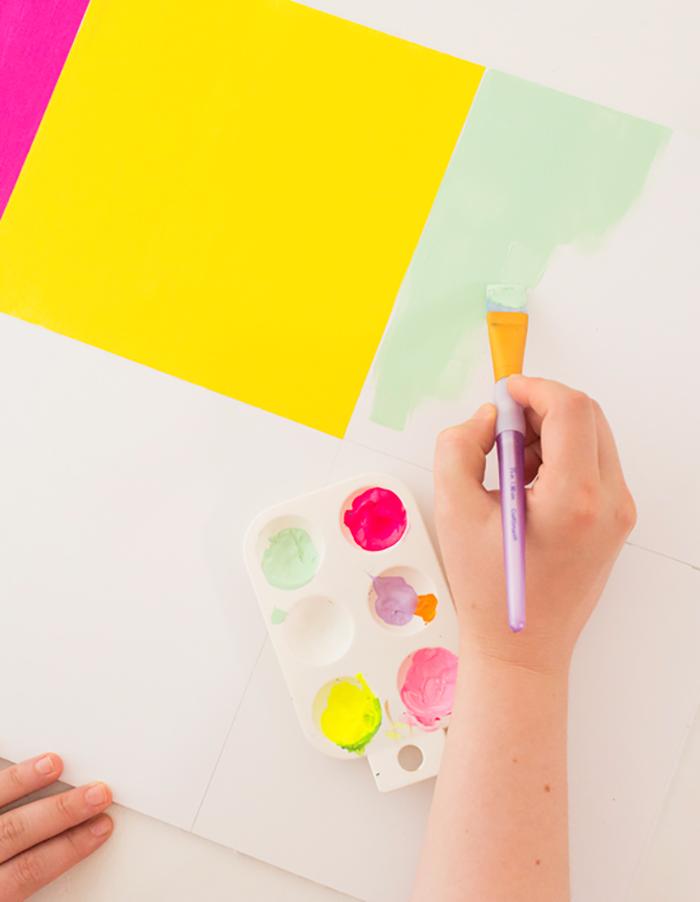 como fazer um painel colorido3