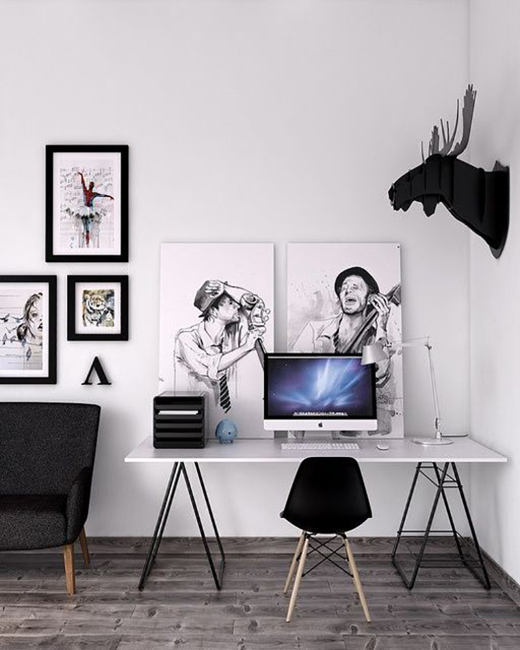 1000 Images About Home Office On Pinterest: Ambientes Minimalistas #7
