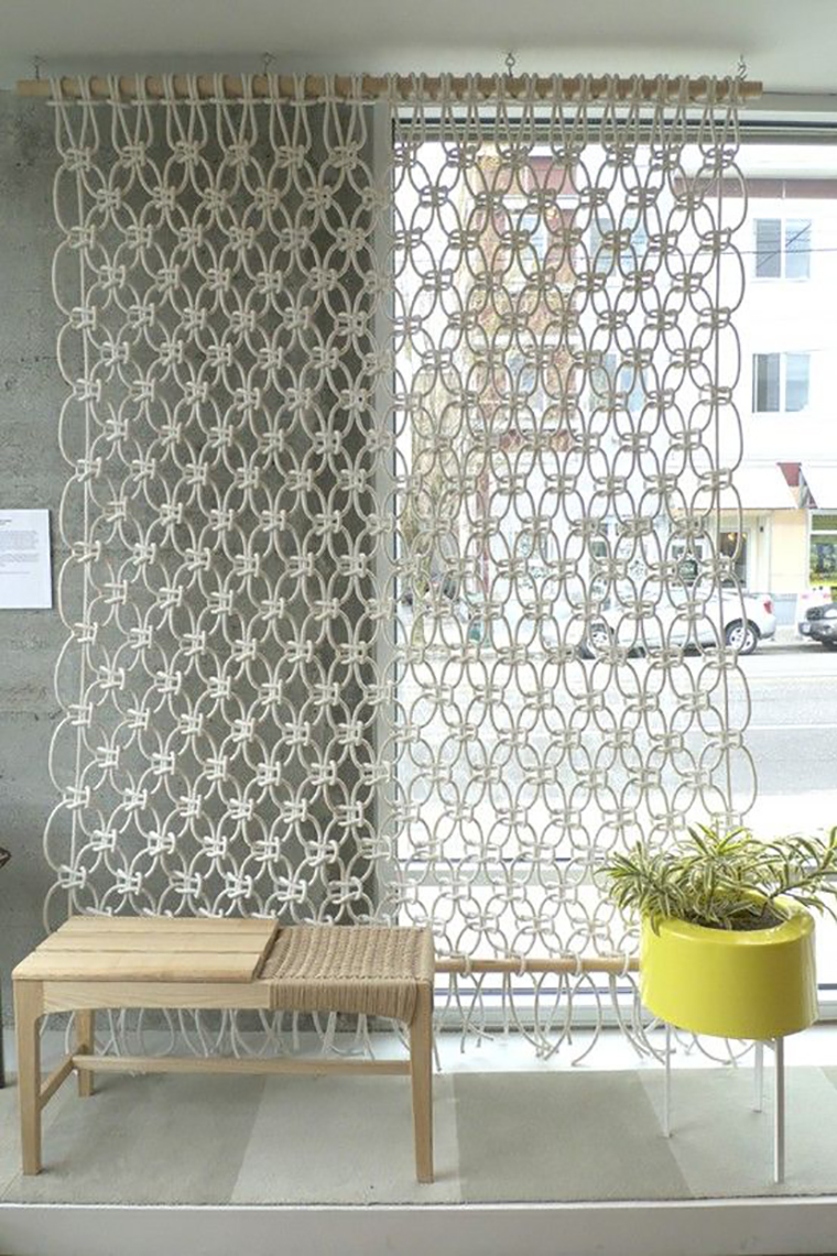 cortina de macrame