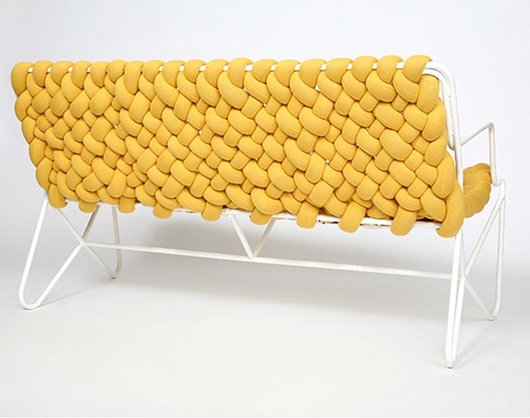 móvel de quinta - sofá de macramê 1