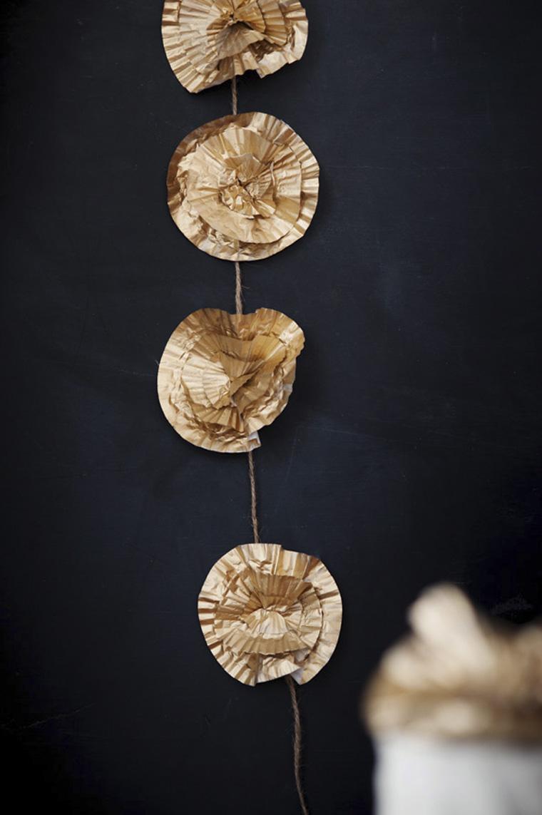 Diy Garland Floral Dourado1