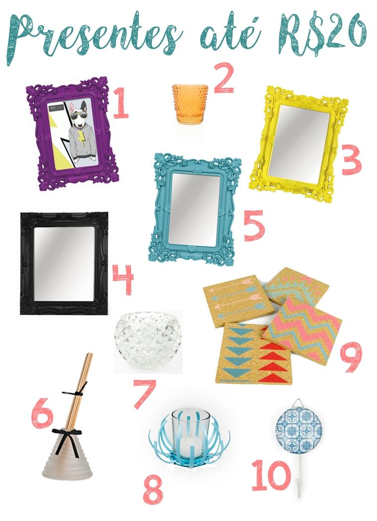 Para o amigo secreto/oculto: Sugestões de presentes decorativos para todos os bolsos!
