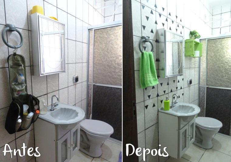 Banheiro 1 Antes e Depois Chácara ACQMVQ