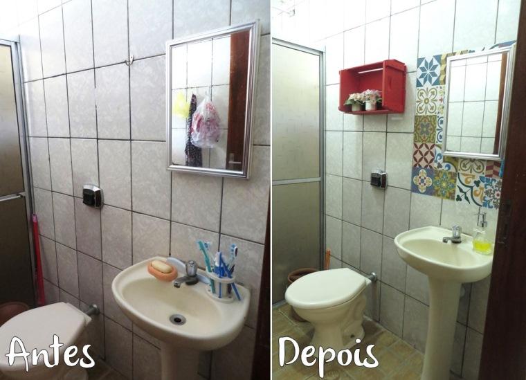 Banheiro 2 Antes e Depois Chácara ACQMVQ