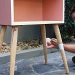 como pintar um movel de madeira