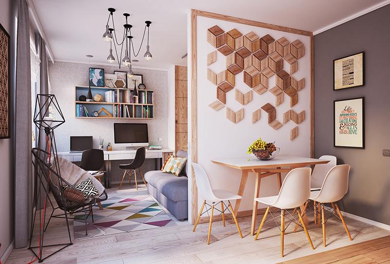 Apartamento inspirador de 40 metros quadrados