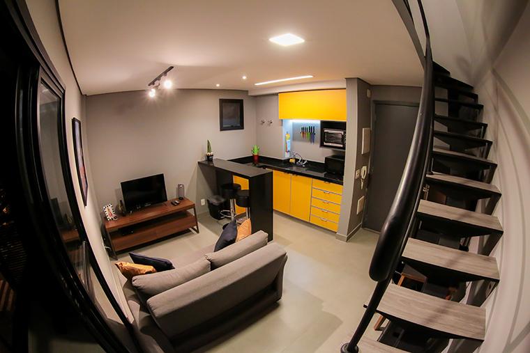 Cozinha que muda de cor: O apartamento do Henrique